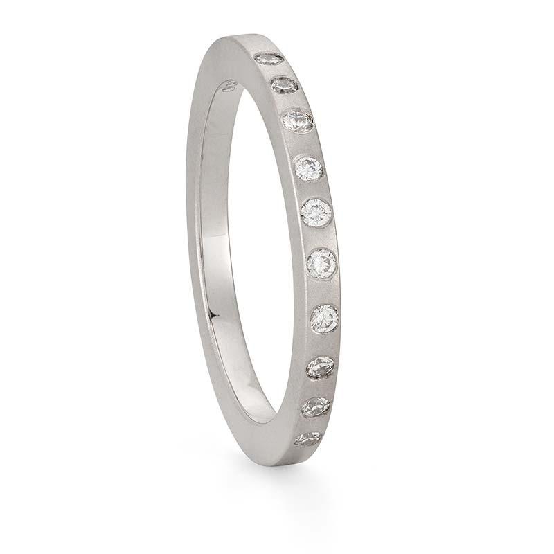 Thin Diamond Wedding Ring Platinum Designed By Jacks Turner Bristol Jeweller