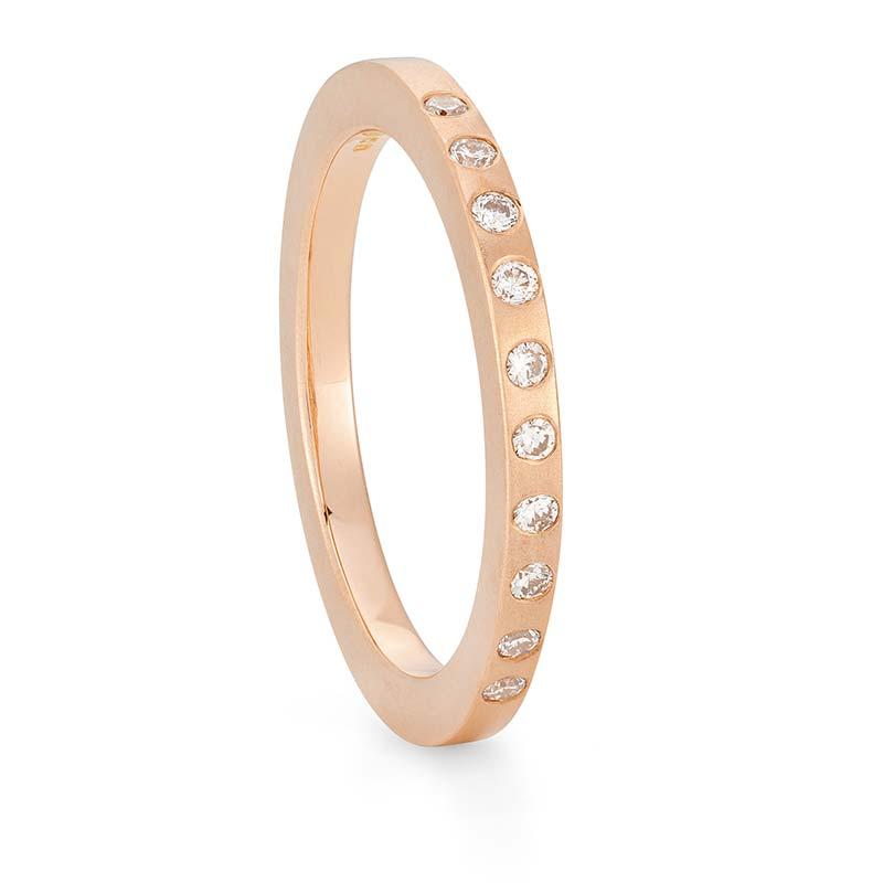 Thin Diamond Wedding Ring Rose Gold Designed By Jacks Turner Bristol Jeweller