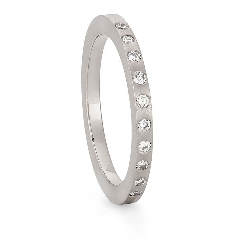 Thin Diamond Wedding Ring White Gold Designed By Jacks Turner Bristol Jeweller
