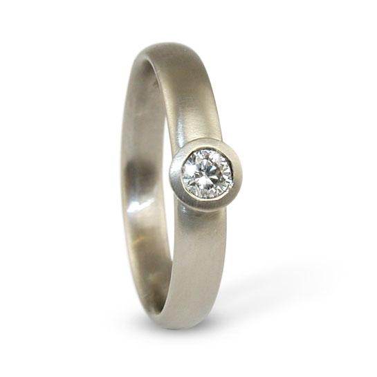 White Gold Diamond Ring Solitaire Designed Jacks Turner