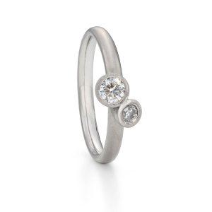 Twin diamond ring -Toi et Moi ring designed by Jacks Turner Bristol