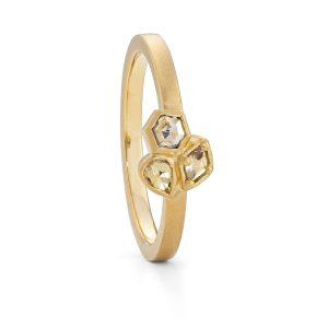 Geo diamond cluster ring designed by Jacks Turner Bristol